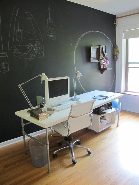 I could have a chalkboard wall! ...for those creative moments I might regret later...