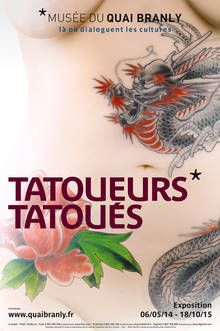 """The exhibition returns to the sources of tattooing and presents the renewed of this phenomenon in its now permanent and globalised manifestation. In so-called """"primitive"""" societies from the Oriental, African and Oceanian worlds, tattooing has a social, religious and mystical role and accompanies the subject in their rites of passage, including them in the community..."""