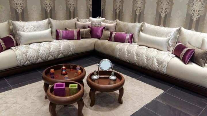 Magnifique salon marocain de la Table basse jusqu'au coussin...