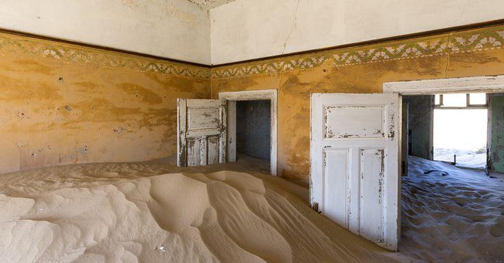 Sand filled houses of Kolmanskop, Namibia. #namibia #luxurytravel