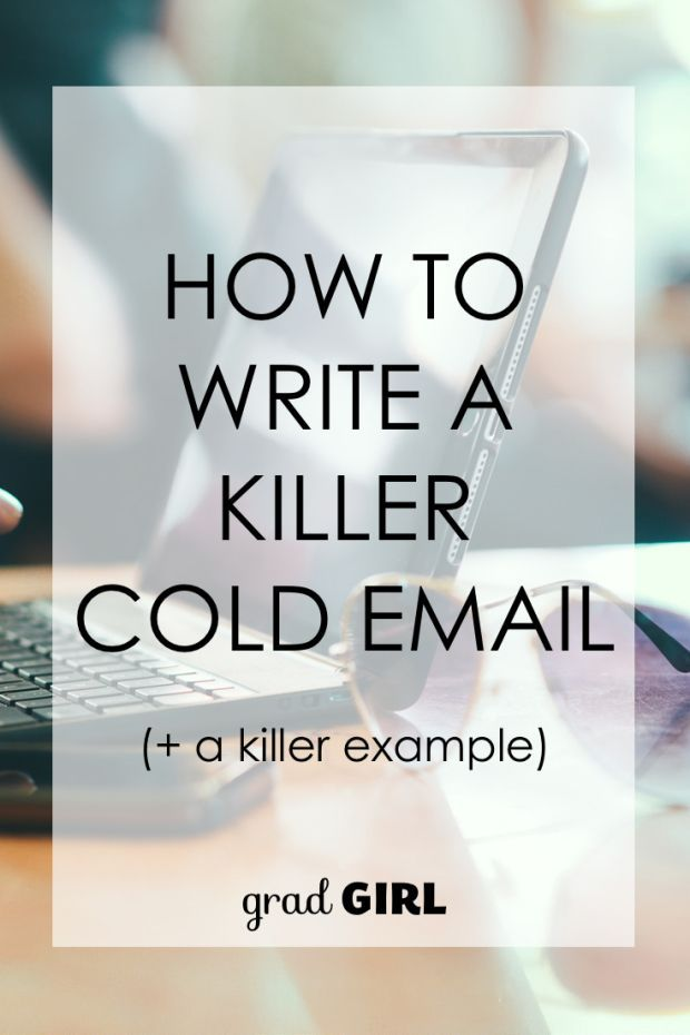 How to Write a Killer Cold Email (with a killer example) | Grad Girl #networking #career #jobsearch
