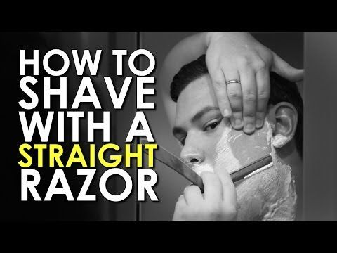 How to Shave with a Straight Razor | AoM Instructional - At ClassicShaving.com, we love the men at The Art of Manliness. They're... very manly.