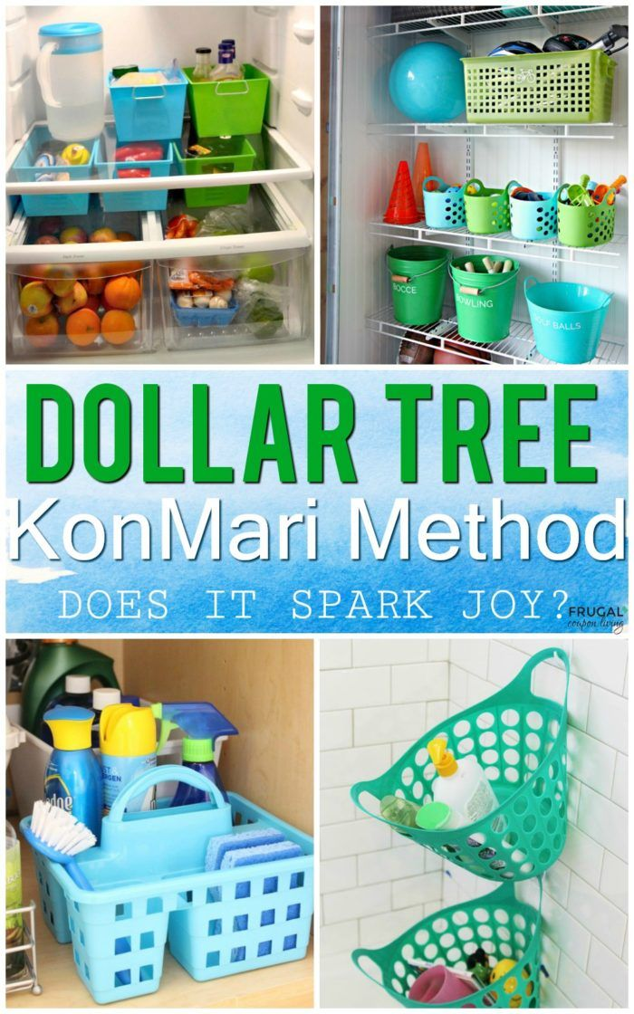 KonMari Method Dollar Tree Organizing