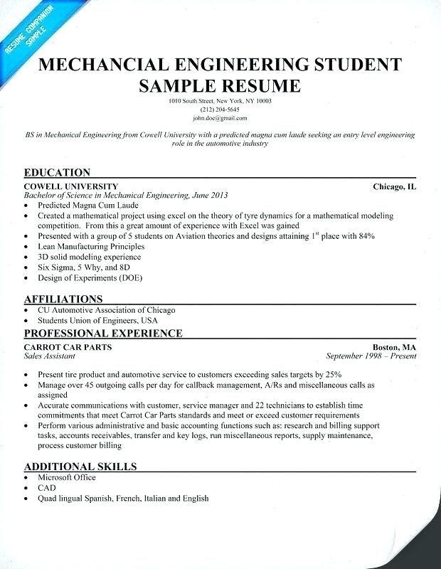 Experienced Engineer Resume Resume Mechanical Engineer Mechanical Engineering Resume Mechanical Engineer Resume Engineering Resume Templates Engineering Resume