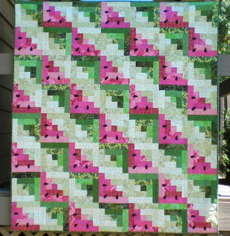 watermelon quilt - I want to quilt this!
