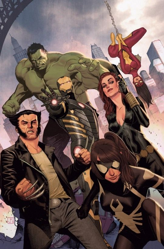 Avengers Assemble Vol.2 #25 by Jorge Molina *