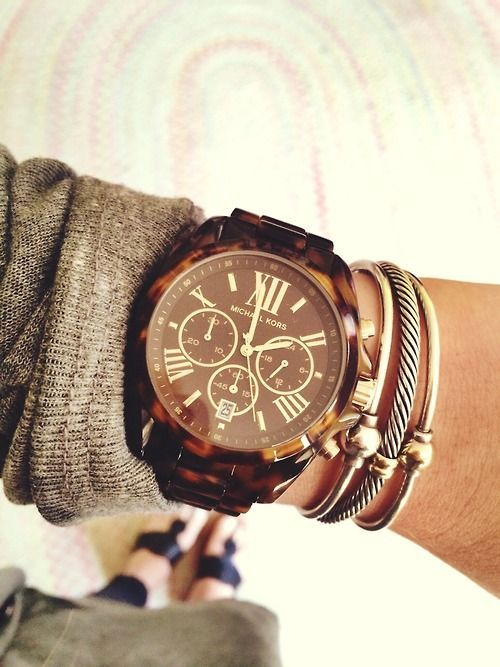 ♥ turtle shell chunky watch. Watch Shopping Guide - Useful Guidelines and Advice to see full information about #watches.