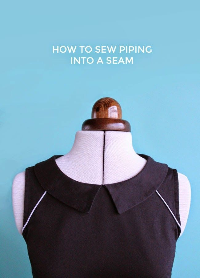 How to Sew Piping into a Seam (Tilly and the Buttons)                                                                                                                                                                                 More