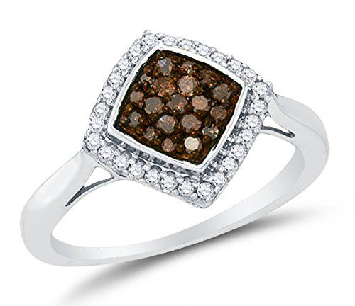 Size 7 – 10K White Gold Chocolate Brown & White Round Diamond Halo Circle Engagement Ring – Channel Set Square Princess Center Setting Shape (1/3 cttw.)by Sonia Jewels - See more at: http://blackdiamondgemstone.com/colored-diamonds/jewelry/wedding-anniversary/engagement-rings/size-7-10k-white-gold-chocolate-brown-white-round-diamond-halo-circle-engagement-ring-channel-set-square-princess-center-setting-shape-13-cttw-com/#sthash.AbtAklC2.dpuf