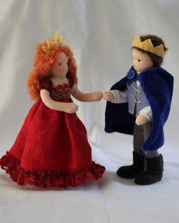 ElineDolls: Prinses met een rode jurk