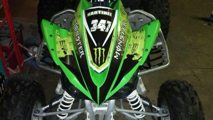 Kawasaki KFX 450 Monster Energy graphics kit. Customer