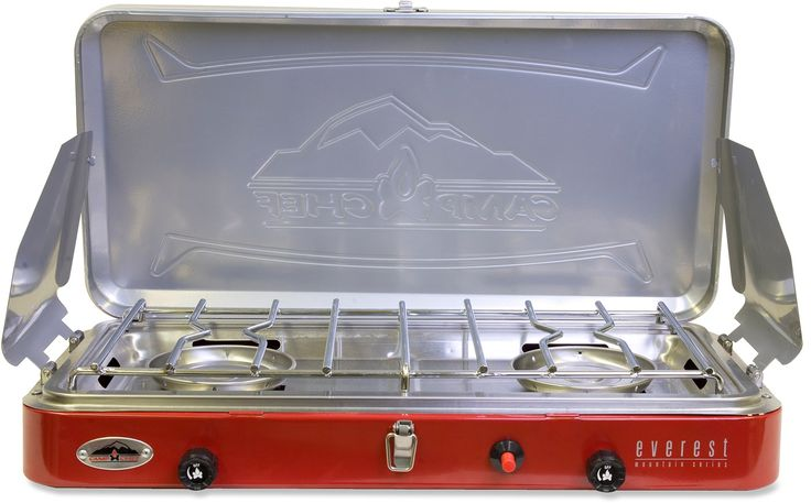 Make a meal that is the envy of the whole campground with the lightweight, compact Camp Chef Everest 2-burner stove. Its ready for road trips and family camping adventures.
