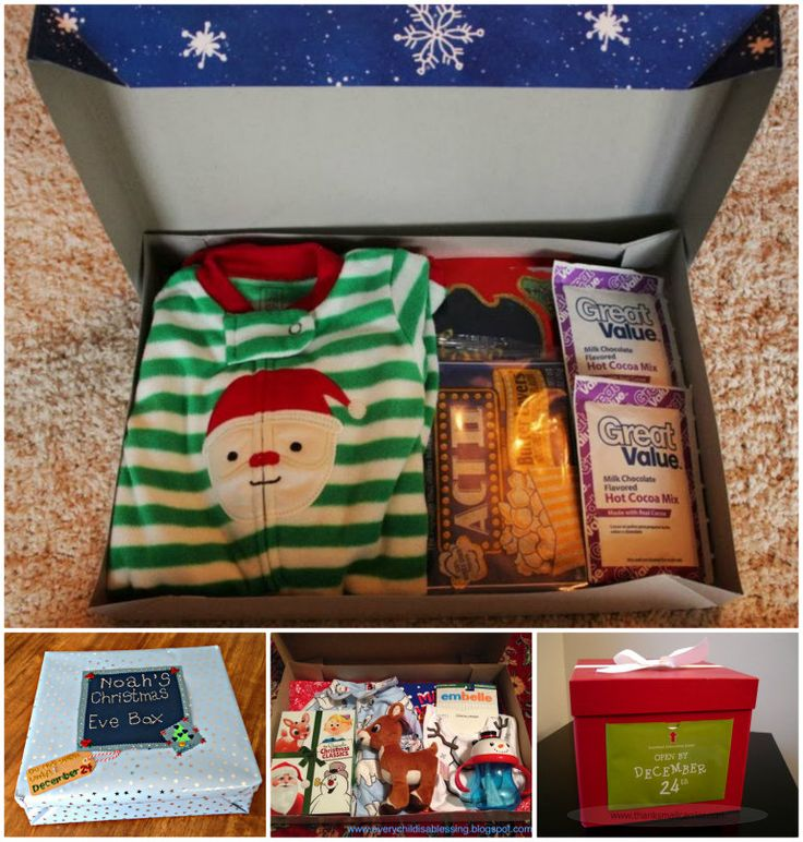 "Night Before Christmas Box! (We do this as a ""night after Thanksgiving"" box)"