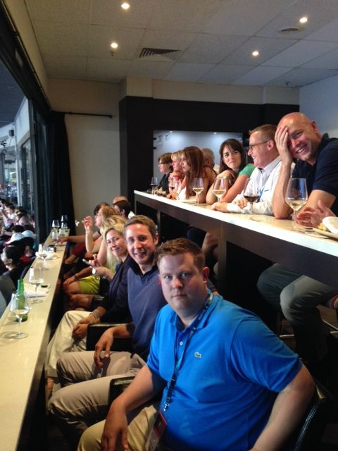 Our top performers watching the #AustralianOpen Men's Final on Sunday night. #roberthalf