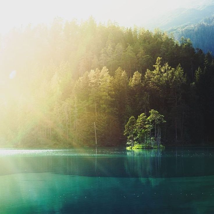 """""""The island.  Two weeks ago: the last sunrays on this little island in #Austria."""""""