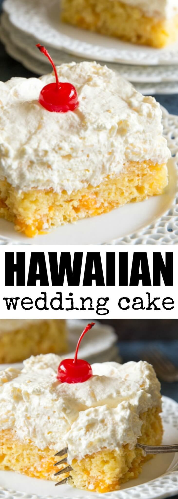 Hawaiian Wedding Cake has oranges in the batter, p…