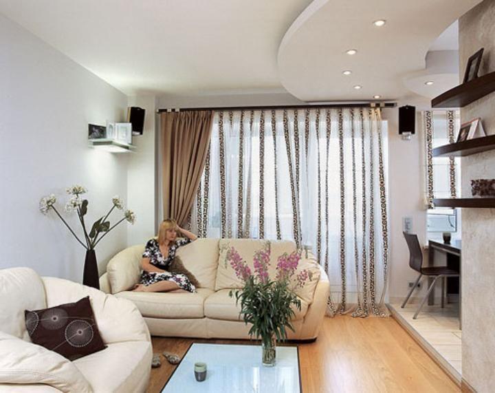 Шторы для однокомнатной квартиры фото