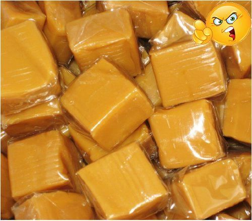 Individually wrapped vanilla #caramel squares by the Ferrara Pan company. Approx 68 pieces per pound.