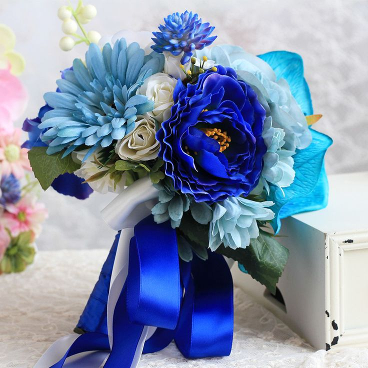 Sully Wong Silk Flower Wedding Bouquet Roses Artificial Flowers Fall Vivid Fake Leaf Bridal