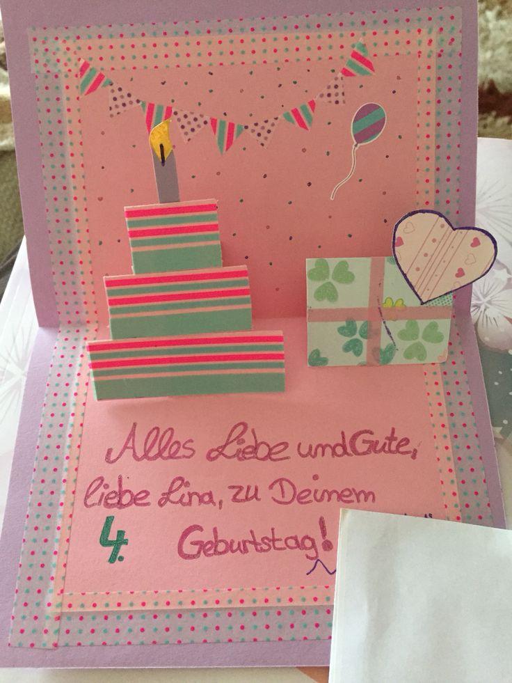 #Geburtstag #Kind #Washitape #Karte #Alles #Gute #Torte #Gelstift #Happy #Birthday