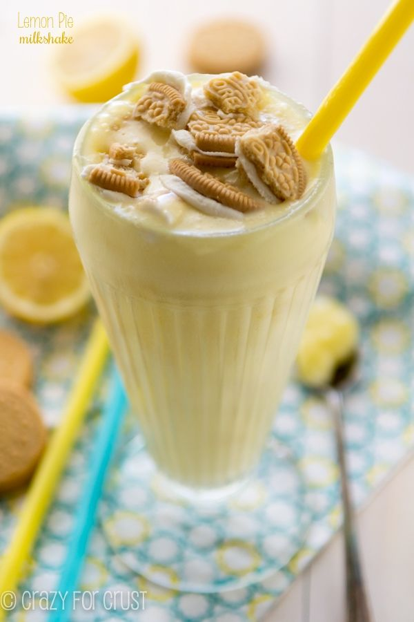 Lemon Pie Milkshake - have your pie and your ice cream too!