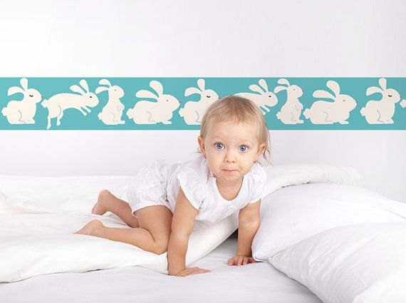 Wall Border Bunnies Theme for Little Girl's by TikitiWallDecals, $79.00