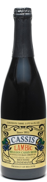 lindemans cassis. champagne, black currant, beer baby.