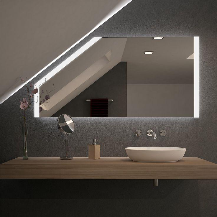 Spiegel für Dachschrägen mit LED Beleuchtung Sin…