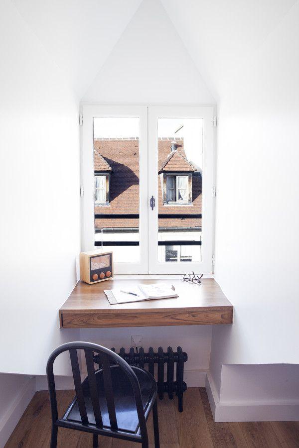 Фото из статьи: Так умеют только в Париже: маленькая минималистичная квартира в мансарде квартала Маре
