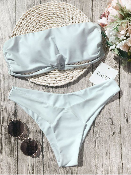Up to 80% OFF + Free shipping on orders over $30. Knot Padded Bandeau Bikini Set. Swimwear 2017:Zaful,Bikinis,Micro bikini,High waisted bikini,Halter bikini,Crochet bikini,One-pieces,Tankini set,Cover ups,to find different swimwear(bathing suit,swimsuits) ideas @zaful Extra 10% OFF Code:ZF2017