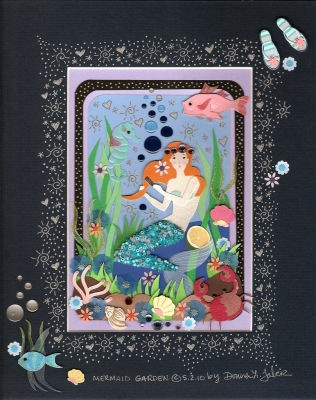 Mermaid card idea: Mermaids Cards, Fair Ideas, Cards Ideas, Beautiful Cards, Cards Tags, Cards Designs