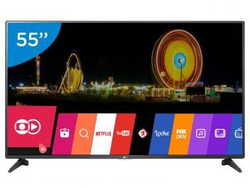 "⚡ Rápida como um Raio: OFERTA RELÂMPAGO ⚡ Smart TV LED 55"" LG Full HD 55LH5750 - Conversor Digital Wi-Fi 2 HDMI 1 USB"