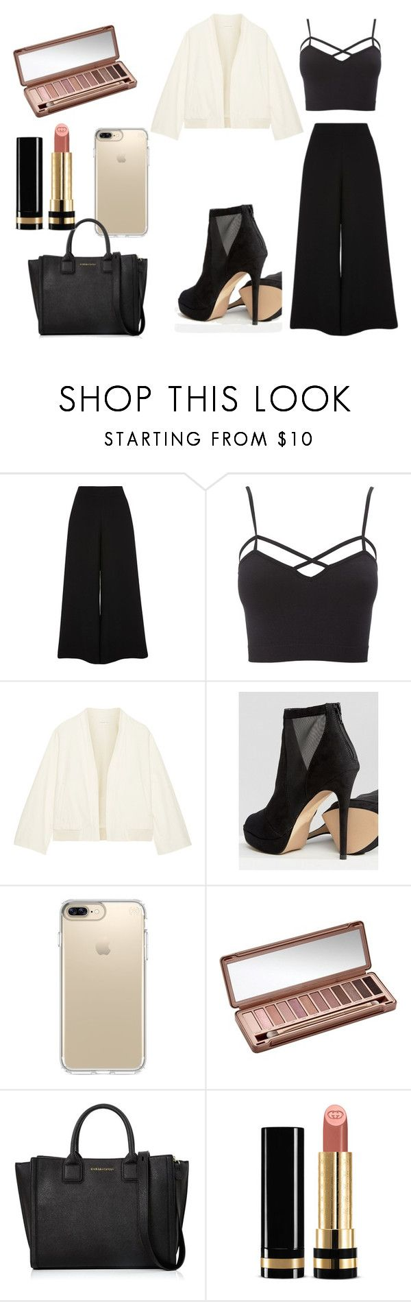 """Untitled #61"" by sara-23-26 ❤ liked on Polyvore featuring River Island, Charlotte Russe, Simon Miller, ALDO, Speck, Urban Decay, Karl Lagerfeld, Gucci and plus size clothing"