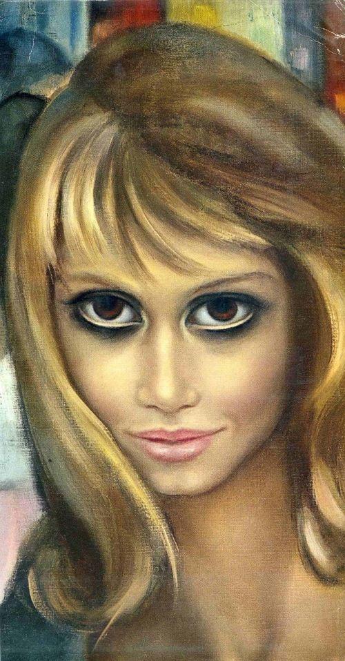 Stolen Big Eyes. Painting by Margaret Keane