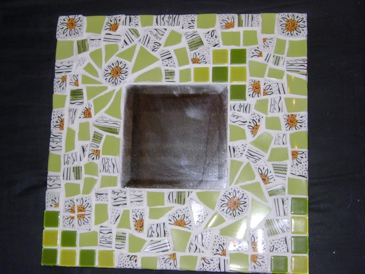Mosaic - Pique assiette vert ensoleillé