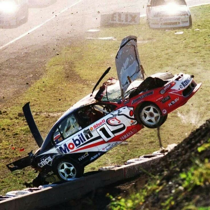 Craig Lowndes terrible rollover at  Calder Park in 1999.