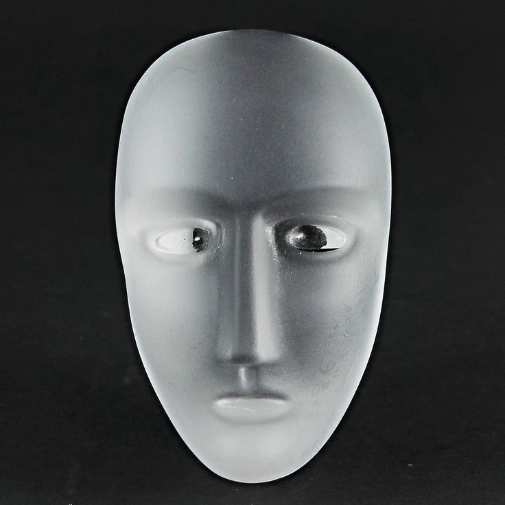 Bertil Vallien (Brains 21st Century) Brilliant Frosted Glass Head with Artifact