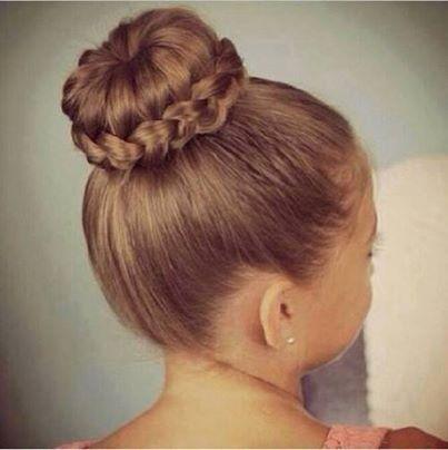 braided bun hair idea for long hair