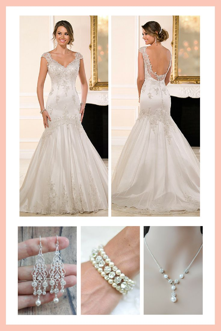 What bridal jewelry should i wear with my cap sleeve for Back necklace for wedding dress