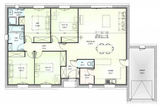 394 best images about plans de maison on pinterest for Plan maison plain pied gratuit