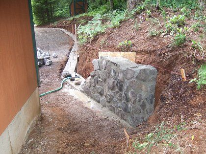 how to build a stone wall for garden