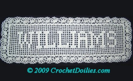 crochet name doilies