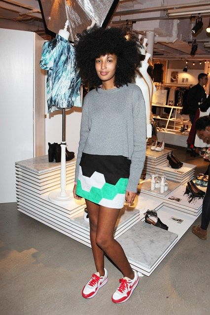Julia Sarr Jamois and red nikes