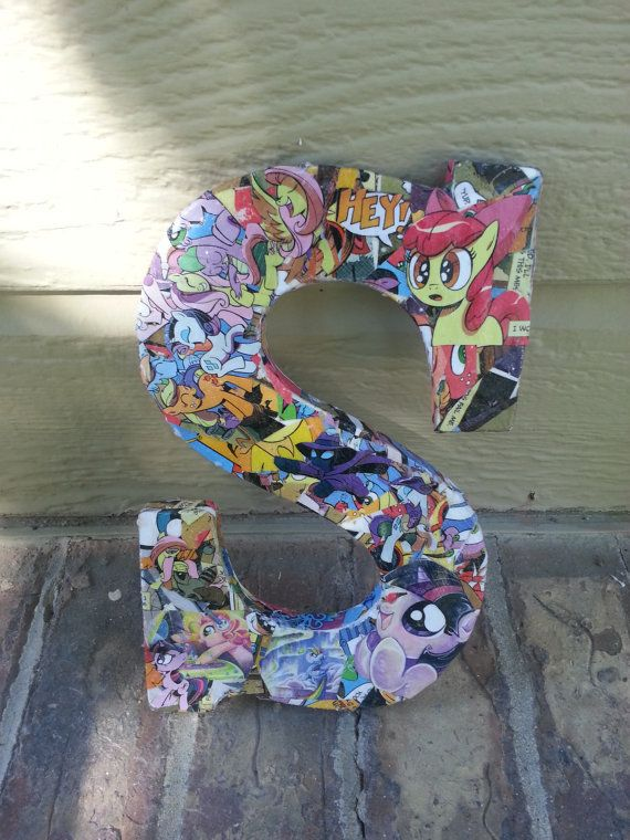 My Little Pony Letter Decor By Hotandnerdy Designs 12 50 Http Hotandnerdydesigns Com