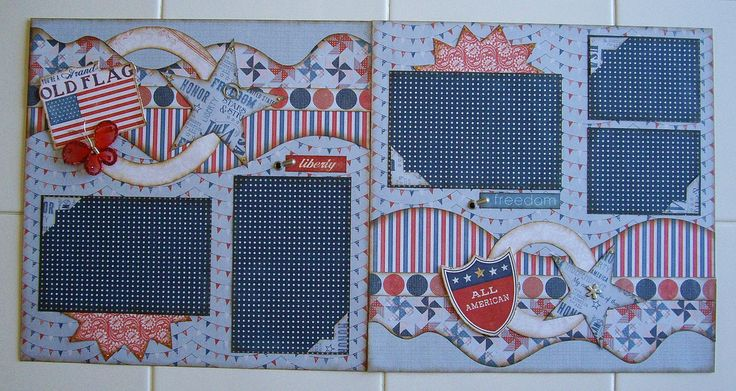 Two Page Layouts - Kiwi Lane Designs - 4th of July