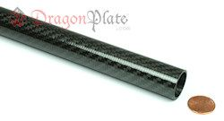 $89.50 USD - This beautiful twill carbon fiber tubing is fabricated from unidirectional carbon fiber with a twill outer layer. The unidirectional layers are oriented to provide high bending stiffness and axial strength, as well as high hoop strength (resistance to crushing from a side load). The woven twill outer layer provides an additional bias support layer in addition to an attractive appearance. This product is ideal for building lightweight frames and structures, tubular vessels, ...