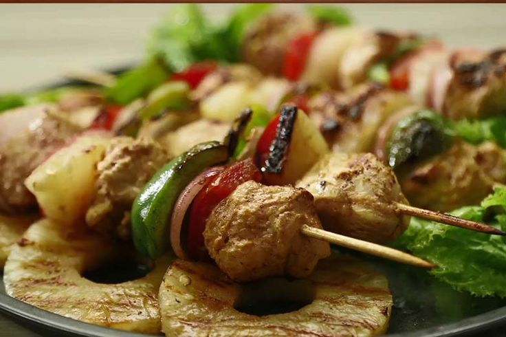 Chicken Shashlik on Skewers