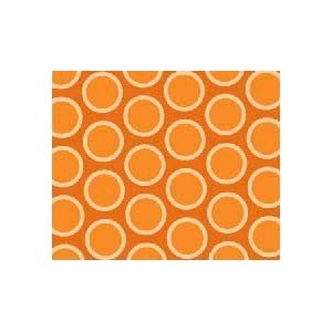 SheetWorld Crib / Toddler Sheet - Primary Bubbles Orange Woven - Made In USA