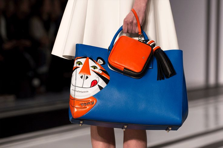 THE FINAL LOOK FROM MY COLLABORATION WITH THE FANTASTIC FOLK FROM ANYA HINDMARCH! TONY THE TIGER ON THE FROSTIES FEATHERWEIGHT EBURY.