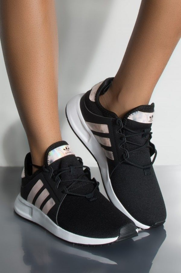 Side View Adidas Womens X-plr Sneaker in Black White White